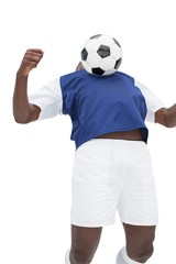 View of football player playing