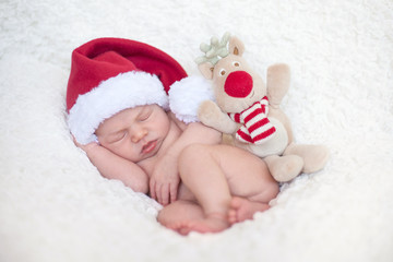 Adorable baby boy, sleeping