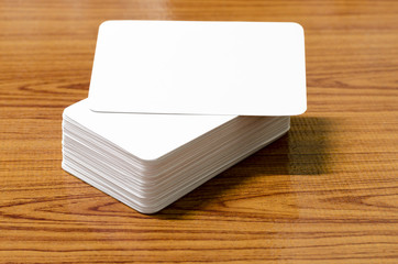 stack of business card