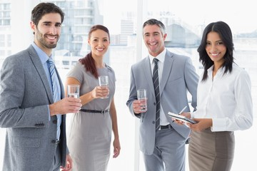 Business team having some drinks