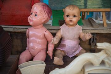 coppia bambole antiche