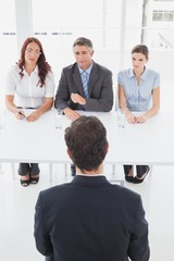 Businessman in a work interview