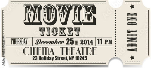 Retro movie vector ticket - 70020194
