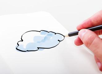 hand drawning cloud