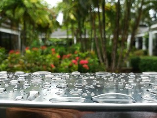 Drops at terrace in Krabi Thailand.