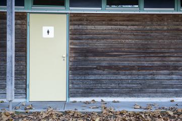 Hintergrund Textur Holz mit Türe