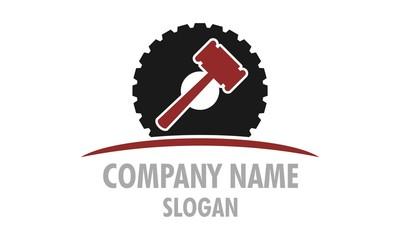 Wheels and Hammer Logo