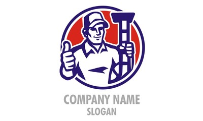 Mr. Duct Man Logo