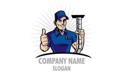 Mr. Duct Man Logo