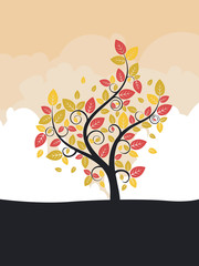 Stylized Autumn Tree