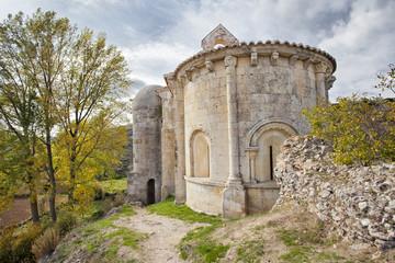 Romanesque church Santa Cecilia.Palencia.