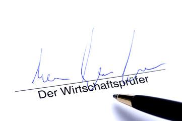 Unterschrift der Wirtschaftsprüfer