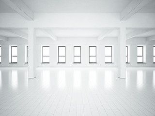 Loft space white