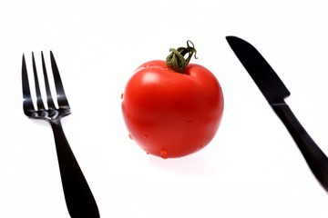 Tomate et couverts