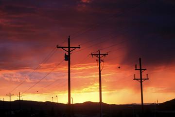 coucher de soleil au Bryce Canyon Village