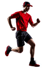 runner jogger running jogging jumping silhouette
