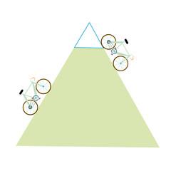 road bike, mountain