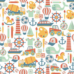 seamless pattern with child icons