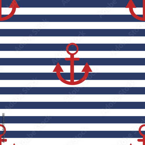 Cotton fabric vector modern anchor background.