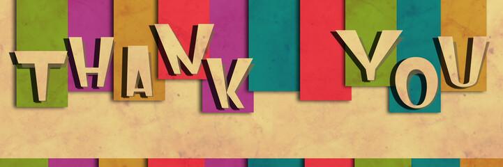Thank You Colorful Stripe Grunge
