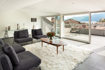 interior modern house, living room