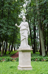 Antique statue in the park in Gatchina