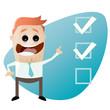 checkliste wahl kontrolle mann business