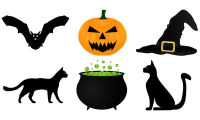 icon set for Halloween