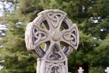 Celtic grave headstone