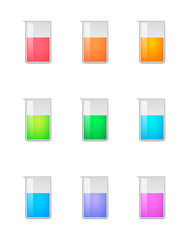 Chemical test tube color set