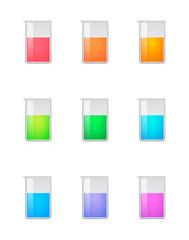 Chemical test tube color set