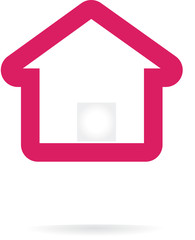 Abstract vector home icon