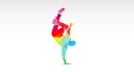 break dance, colori, fantasia, hip hop, ballerini