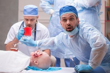 Hard work of doctors