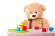 canvas print picture - teddy mit puppengeschirr