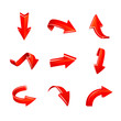 vector red arrows