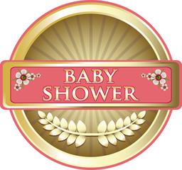 Baby Shower Pink Emblem