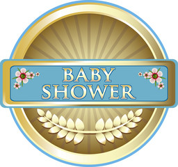 Baby Shower Blue Emblem