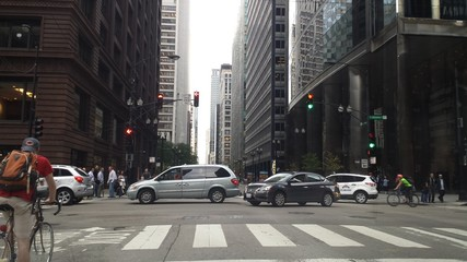 Evening Rush-Hour in Chicago