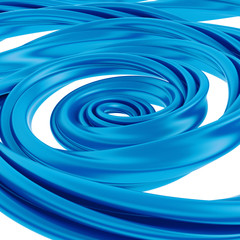 3d abstract blue liquid swirl spiral candy cane splash