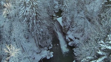 mountain river in the winter