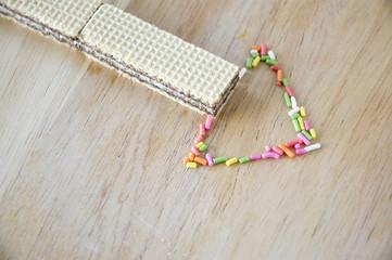 wafers and sweet sugar arrow