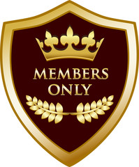 Members Only Gold Shield
