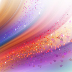 abstract colorful background, wavy sparkling lines