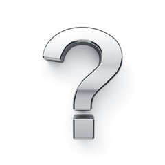 Metallic alphabet question symbol - ?