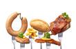 canvas print picture - Fettiges Essen