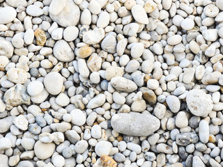 stone pebble on beach of Eretrat