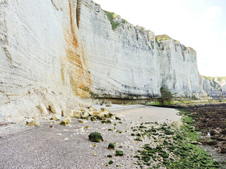 pebble beach and cliff on english channel