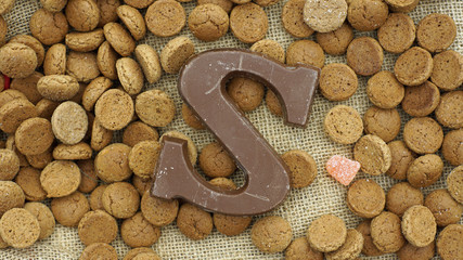 Chocolate letter S for the Dutch Sinterklaas on December 5th