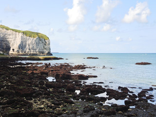 stone beach and cape on english channel
